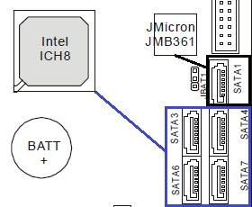 MSI P965 Neo - SATAII Connectors