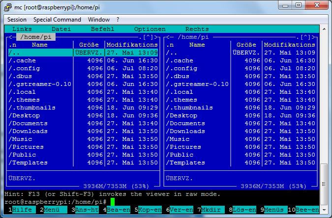 Midnight commander raspberry pi download