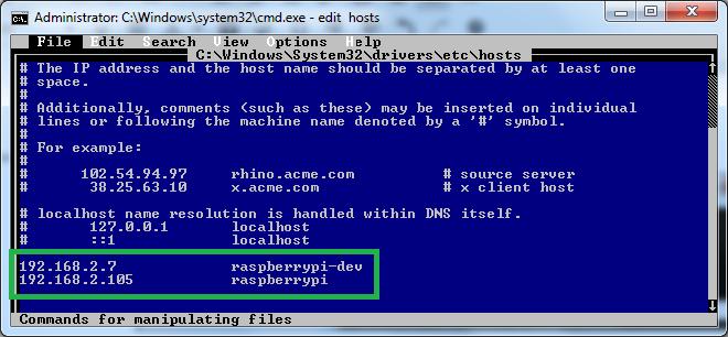 hosts - Datei editieren