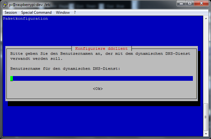 ddclient - install(4) - Benutzername