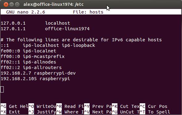 Linux/Mac OS X - hosts-Datei editieren