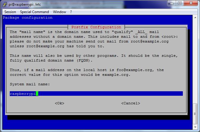 postfix Konfiguration - Bild 3