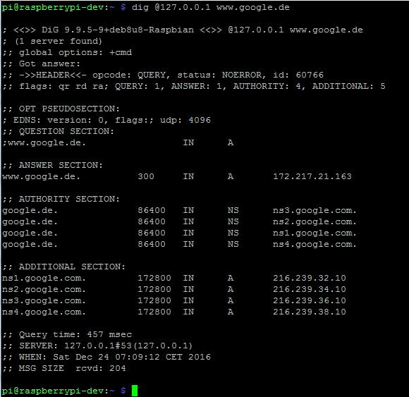 DNS-Server-Test mit dig