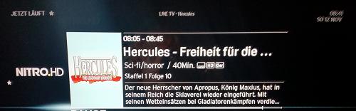 """""""Hercules"""" läuft noch bis 8.47 Uhr..."""