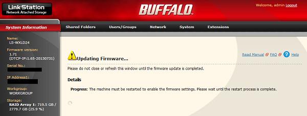 001-Buffalo NAS FW Update