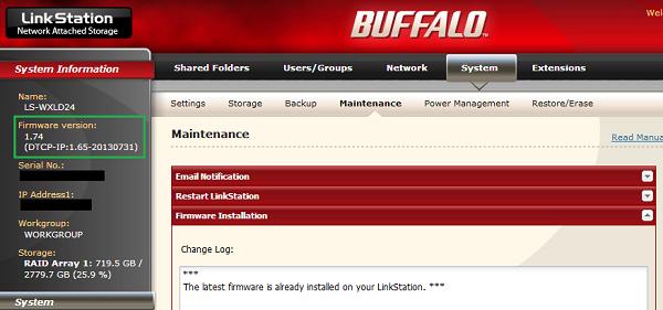 002-Buffalo NAS FW Update