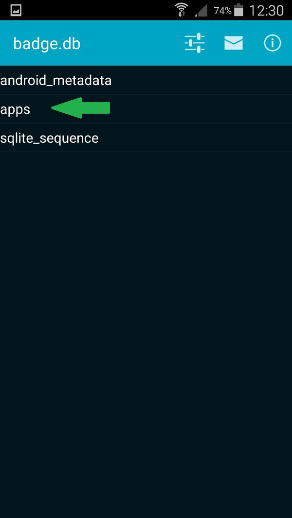 SQLite Editor - BadgeProvider - Bild 3