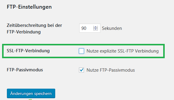 BackWPup_FTP-Einstellungen