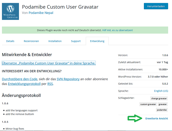 Podamibe Custom User Gravatar-Website