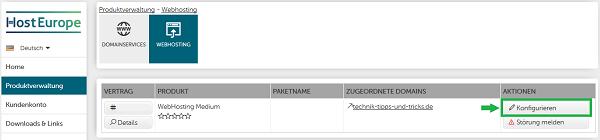 HostEurope_KIS_Webhosting-Konfigurieren