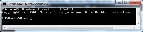 Windows-Eingabeaufforderung Bild