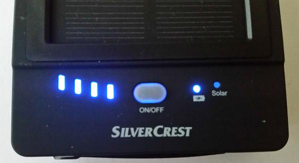 SilverCrest Powerbank SPBS 5000 B2 Status LEDs
