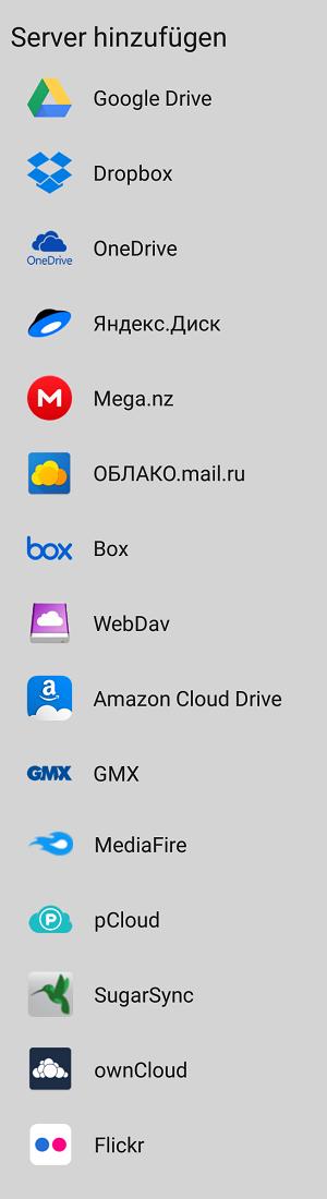 X-plore File Manager - Web-Speicher - Bild