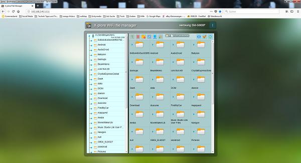 X-plore WiFi file manager - Bild