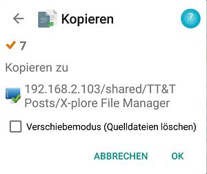 X-plore File Manager - Dateien kopieren - Bild