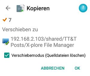 X-plore File Manager - Dateien verschieben - Bild