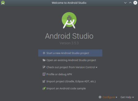 Android_Studio_Welcome_Screen [Image]