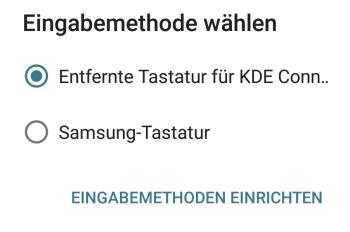 KDE Connect - Eingabemethode wählen - Android