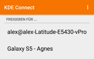 KDE Connect - Freigabe - Android