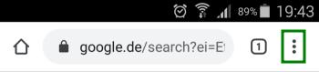 KDE Connect - Internet Browser Menu - Android