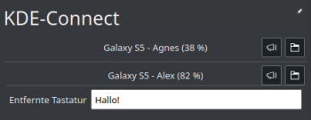 KDE Connect - Tastatur Eingabefeld - Desktop-PC