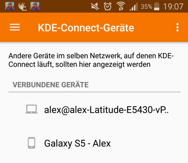 KDE Connect - Verbundene Geraete - Android