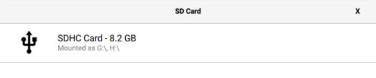 Raspberry Pi Imager - SD-Karte wählen