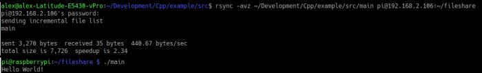 SSH rsync command