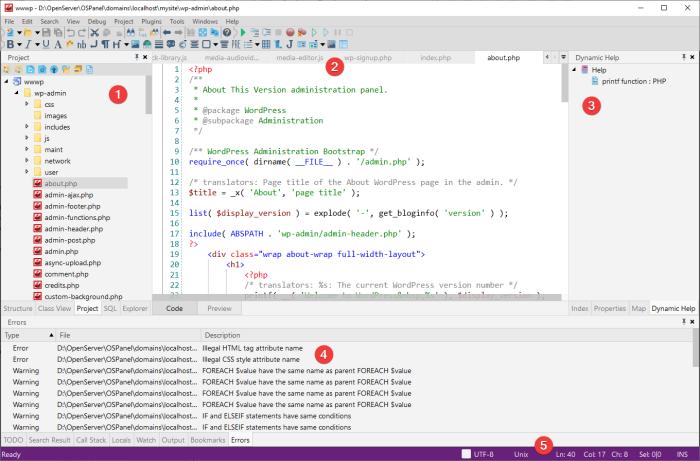 codelobster-ide-user-interface
